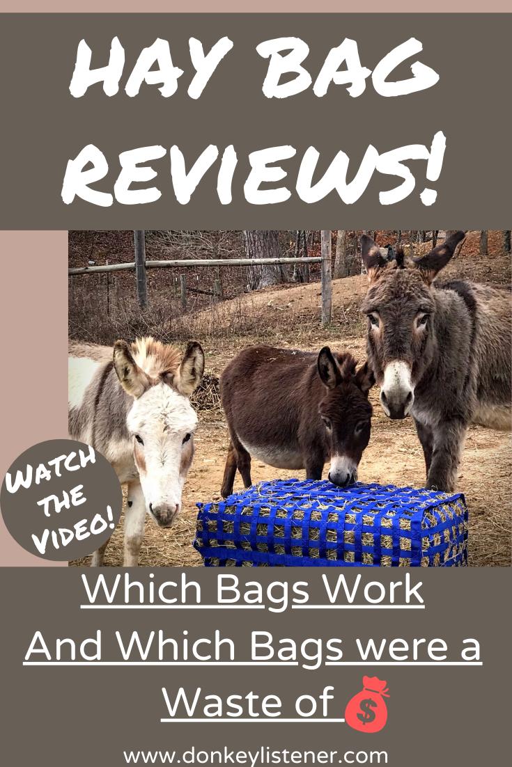 hay bag reviews for donkeys and horses