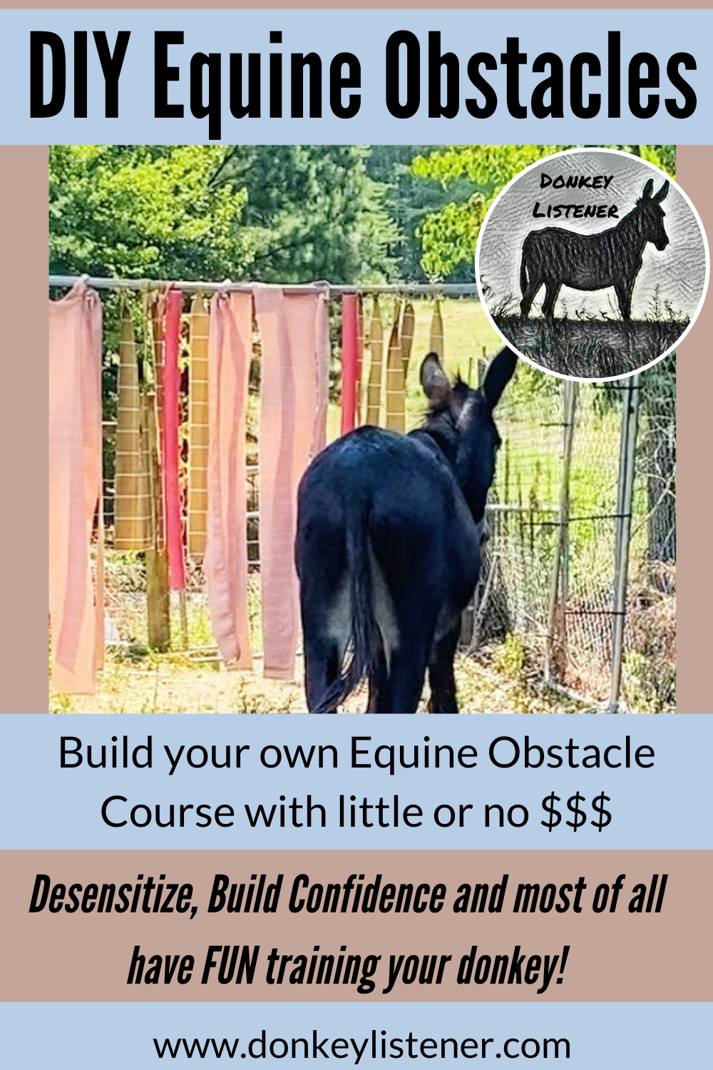 Build your own equine obstacle course