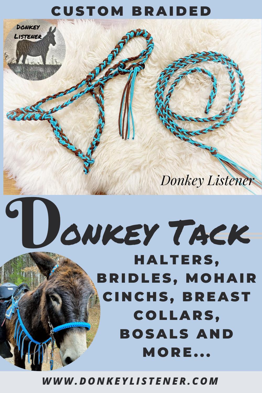 donkey tack, donkey halters